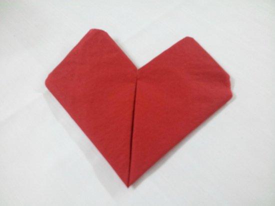 La Pergola: cuoricino di San Valentino per tovagliolo =)