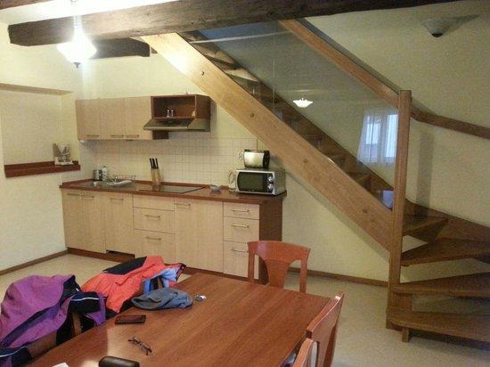 Krakow City Apartments: open plan kitchen