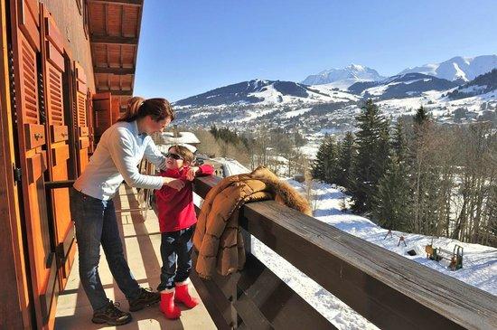 Hotel Les Chalets du Prariand: Vue sur les Alpes