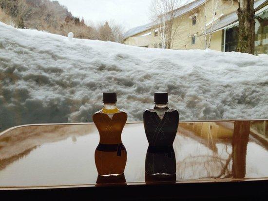 Bettei Senjuan: Complementary water bottles on checkout
