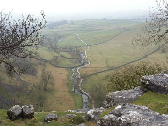 Beck Hall Malham: View from top of Malham Cove