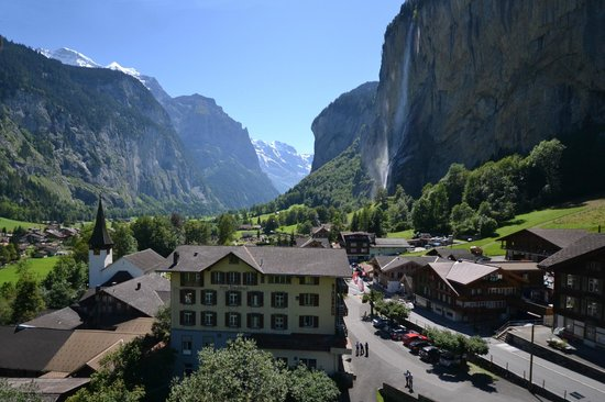 Hotel Staubbach: Our hotel and Lauterbrunnen valley