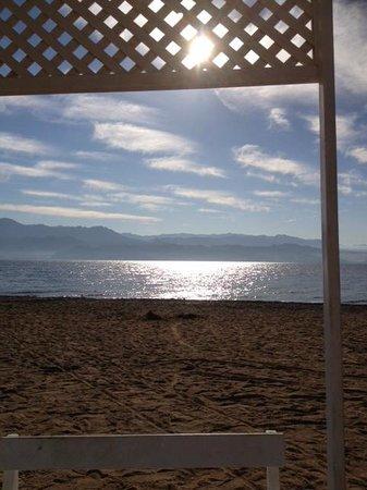 U Coral Beach Club Eilat: Lit de plage