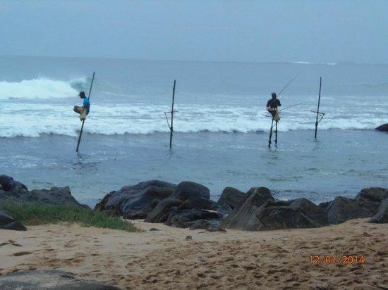 Sri Gemunu Beach Resort: Ausblick vom Balkon