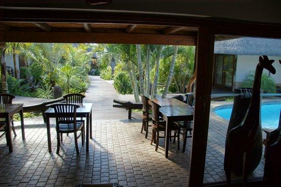 Lodge Afrique: Terrasse