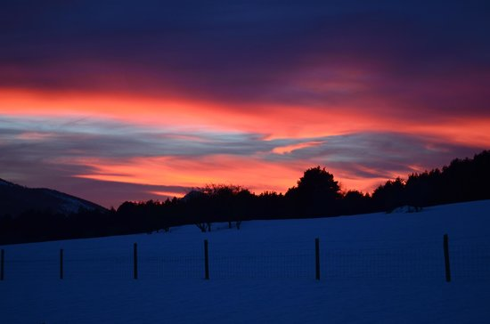 Reserve Biologique des Monts d'Azur : coucher de soleil hivernal