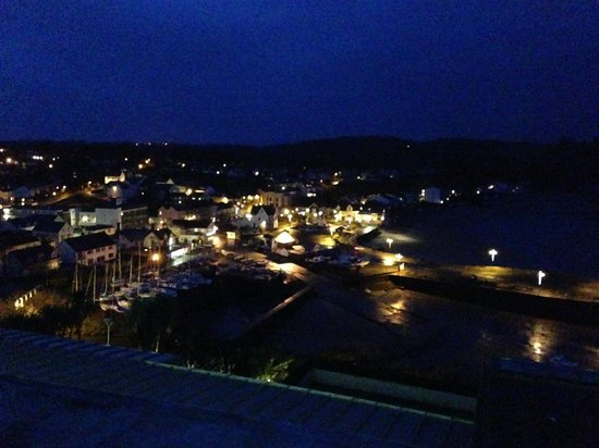 St Brides Spa Hotel : night time view of Saundersfoot
