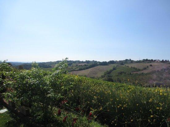 Agriturismo Il Castagno: vue sur les collines environnantes