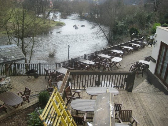 White Waters Country Hotel: the decking, for better weather