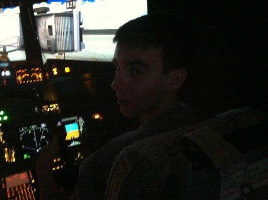 SimCenter: bit of a dark photo inside cockpit