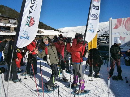 Euroski Mountain Resort : salida con raquetas¡estupendo!