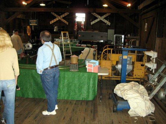 West Florida Railroad Museum: small model trains set up inside