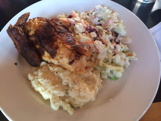 Austin's American Grill - North : rotisserie chicken with coleslaw(fruity) and garlic mash...delicious!!