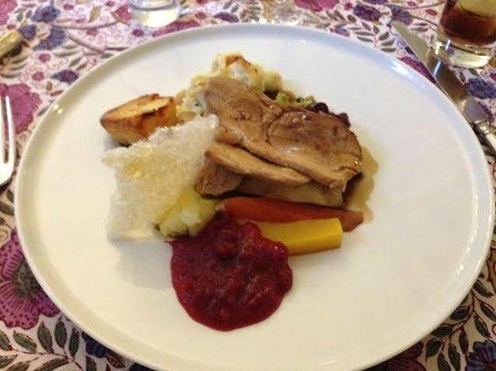 Langar Hall Restaurant: pork