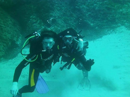 Dawn Diving: Me and my buddy Shaun!