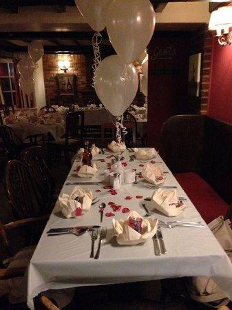 The Horns Country Inn: Dining area