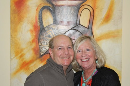 Pueblo Bonito Rose: My husband and me in our room