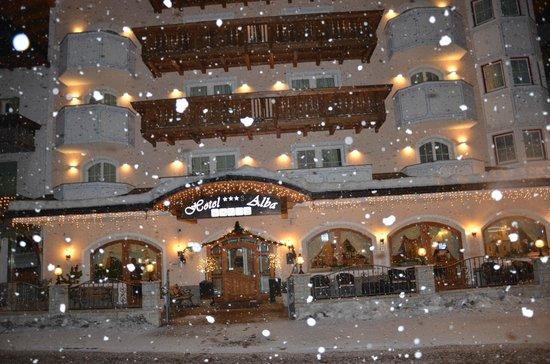 Hotel Alba con la neve