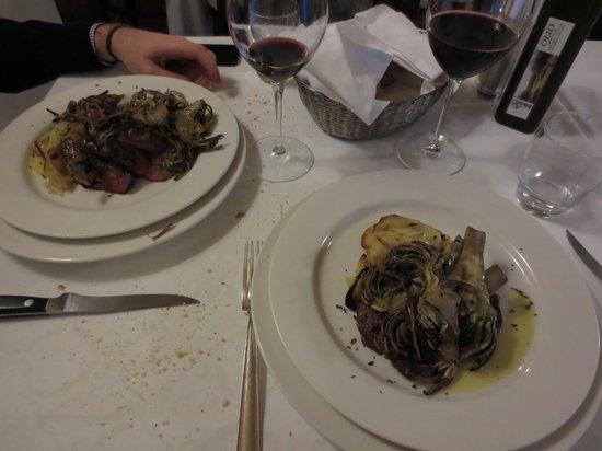 La Taverna: Tagliata con carciofi e patate