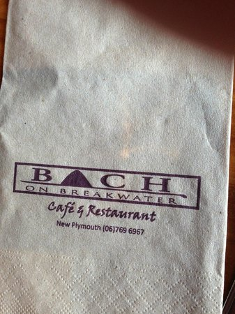 Bach on Breakwater: just a napkin :) that is real
