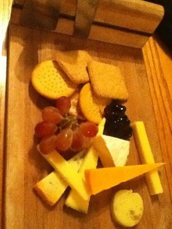 The Grey Lady: cheese board was goof for two of us