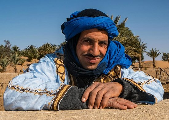 Hotel Kasbah Mohayut: Our camel man (not sure of exact title, he walked in front leading our two camels)