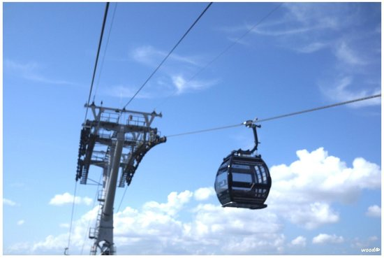 Singapore Cable Car: cars in good conditions