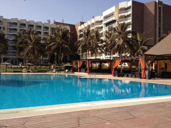 King Fahd Palace: Hotel from pool area