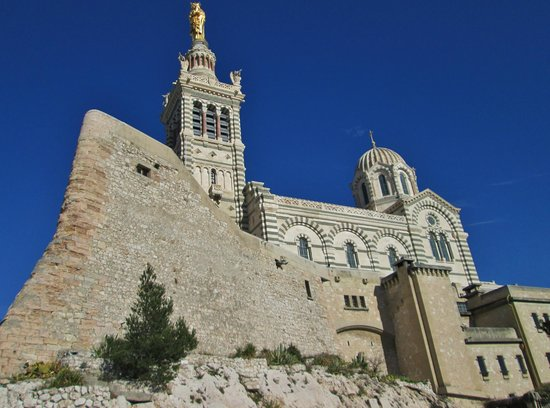 Marseille Provence Greeters - Private Tours : The Basilica Notre-Dame de la Garde, perched on the highest hill in Marseille