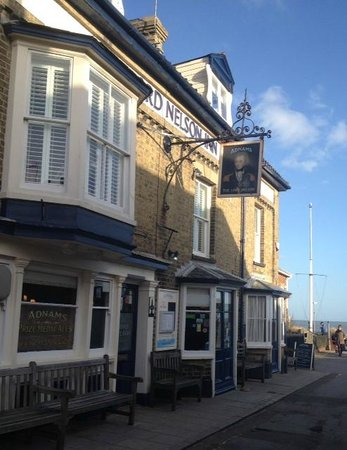 The Lord Nelson: Sunny evening in February