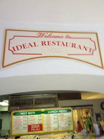 Ideal Restaurant : Roti Menu