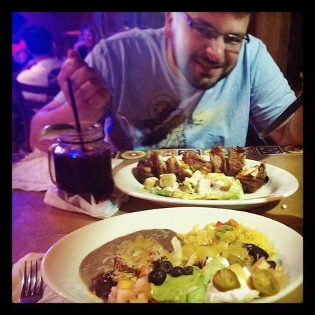Lupi's Mexican Grill & Sports Cantina: Puerto Rican Burrito and Esthers stuffed chicken