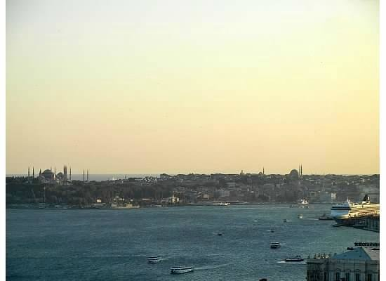 Conrad Istanbul Bosphorus: View from the Lounge at Sunset
