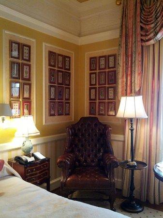 The Inn at Little Washington: My guestroom - paneling, artwork, great fabrics!