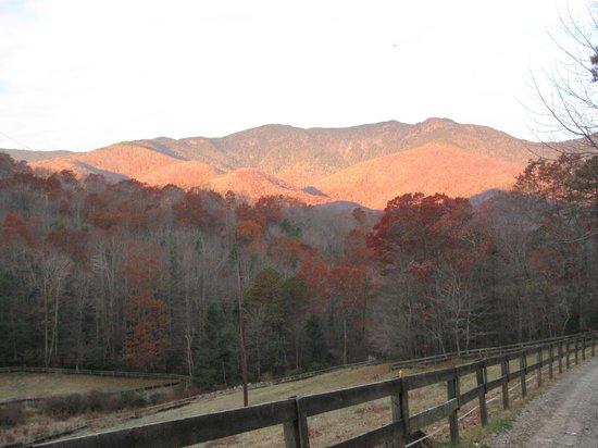 Clear Creek Guest Ranch: sunrise in autumn