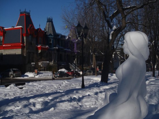 Plateau Mont-Royal: Square St. Louis in Winter