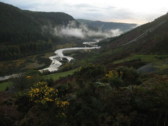 Llanafan, UK: Above the house - Ystwyth valley