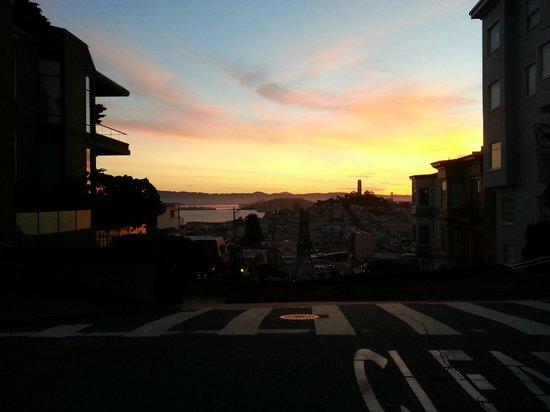 Cable Cars: sunrise from the cable car