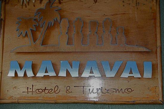 Hotel Manavai: Uithangbord