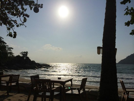 Thongtapan Resort : The bar and restaurant area right on the beach