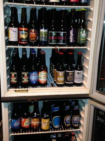 Cat Bar : Craft beer selection in fridge