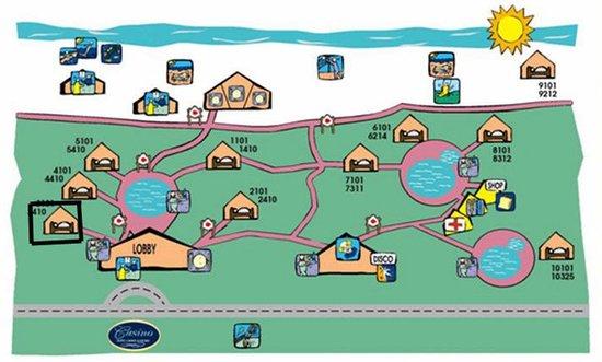 Vista Sol Punta Cana : le plan de l'hôtel