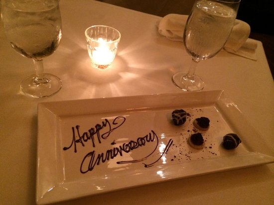 Back Bay Grill : Anniversary Surprise