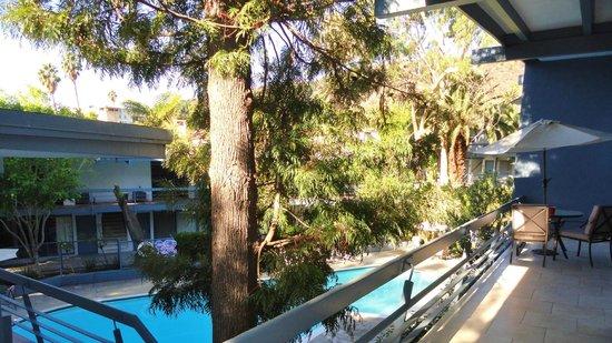 Highland Gardens Hotel: vue depuis la terrasse