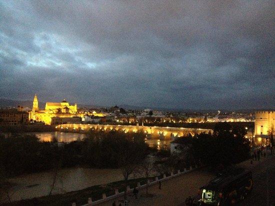 Hesperia Córdoba: Vista desde nuestra habitaci´por la noche