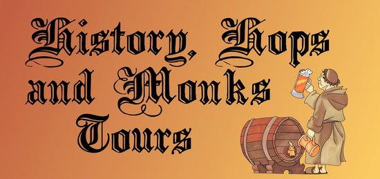 History, Hops and Monks Tours: Logo