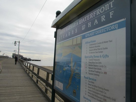 Stearns Wharf: entrance