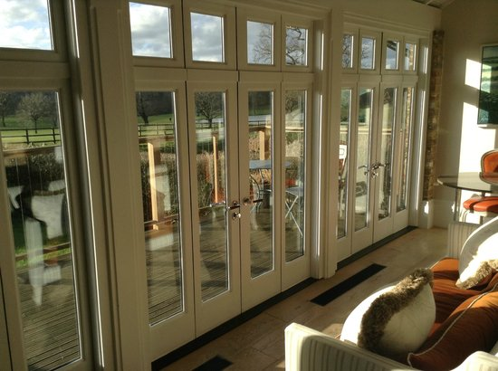 Coworth Park - Dorchester Collection: View from cottage conservatory