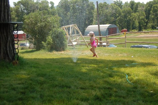Focus Ranch: Running Through the Sprinklers on the Front Lawn