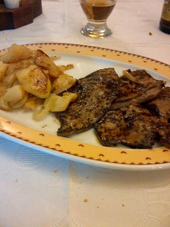 Restaurante Las Cumbres Meson del Cordero : The lamb's liver